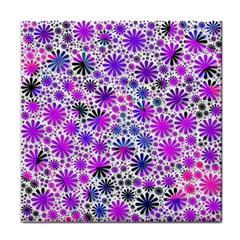 Lovely Allover Flower Shapes Pink Tile Coasters by MoreColorsinLife