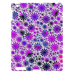 Lovely Allover Flower Shapes Pink Apple Ipad 3/4 Hardshell Case