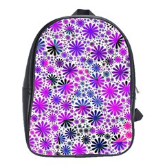 Lovely Allover Flower Shapes Pink School Bags (xl)  by MoreColorsinLife