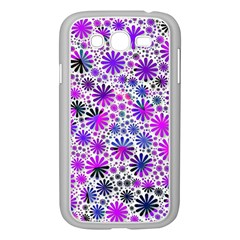 Lovely Allover Flower Shapes Pink Samsung Galaxy Grand Duos I9082 Case (white) by MoreColorsinLife