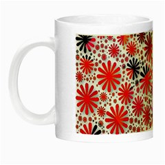 Lovely Allover Flower Shapes Night Luminous Mugs by MoreColorsinLife