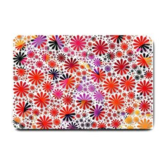 Lovely Allover Flower Shapes Small Doormat  by MoreColorsinLife