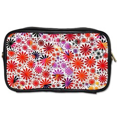 Lovely Allover Flower Shapes Toiletries Bags 2 Side by MoreColorsinLife