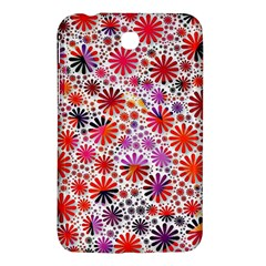 Lovely Allover Flower Shapes Samsung Galaxy Tab 3 (7 ) P3200 Hardshell Case  by MoreColorsinLife
