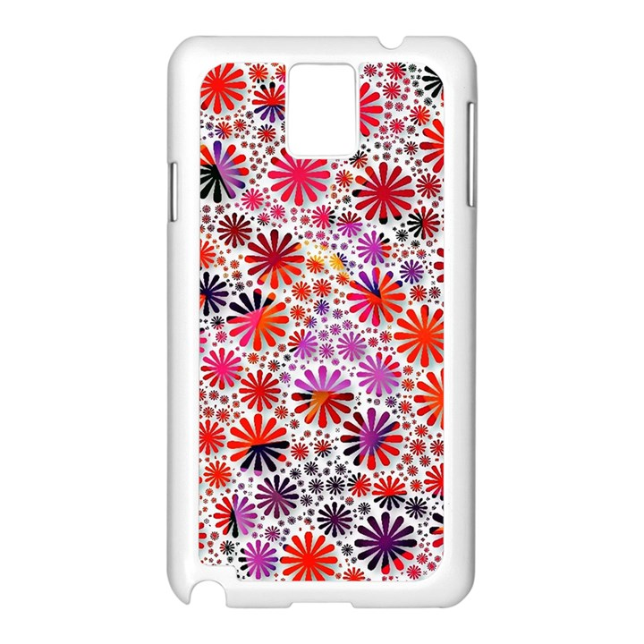 Lovely Allover Flower Shapes Samsung Galaxy Note 3 N9005 Case (White)