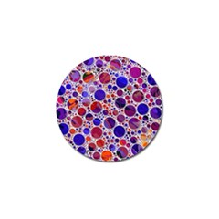 Lovely Allover Hot Shapes Blue Golf Ball Marker (4 Pack) by MoreColorsinLife