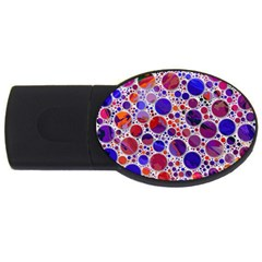 Lovely Allover Hot Shapes Blue Usb Flash Drive Oval (2 Gb)  by MoreColorsinLife