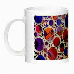 Lovely Allover Hot Shapes Blue Night Luminous Mugs by MoreColorsinLife