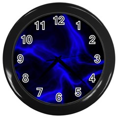 Cosmic Energy Blue Wall Clocks (black) by ImpressiveMoments