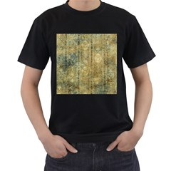Beautiful  Decorative Vintage Design Men s T-shirt (black) (two Sided) by FantasyWorld7