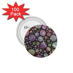 Sweet Allover 3d Flowers 1 75  Buttons (100 Pack)  by MoreColorsinLife