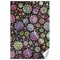 Sweet Allover 3d Flowers Canvas 20  X 30   by MoreColorsinLife