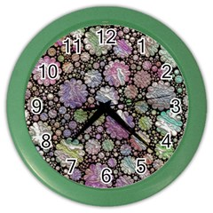 Sweet Allover 3d Flowers Color Wall Clocks by MoreColorsinLife