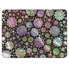 Sweet Allover 3d Flowers Samsung Galaxy Tab 7  P1000 Flip Case by MoreColorsinLife