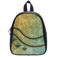 Elegant Vintage With Pearl Necklace School Bags (small)  by FantasyWorld7