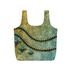 Elegant Vintage With Pearl Necklace Full Print Recycle Bags (s)