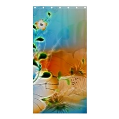 Wonderful Flowers In Colorful And Glowing Lines Shower Curtain 36  X 72  (stall)  by FantasyWorld7