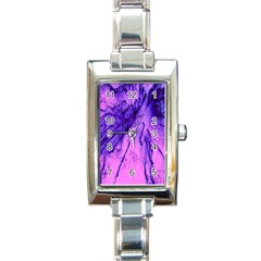 Special Fireworks Pink,blue Rectangle Italian Charm Watches by ImpressiveMoments