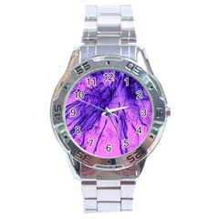 Special Fireworks Pink,blue Stainless Steel Men s Watch by ImpressiveMoments