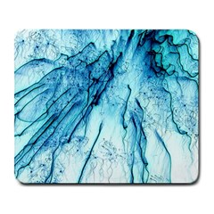 Special Fireworks, Aqua Large Mousepads by ImpressiveMoments
