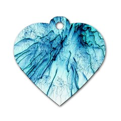 Special Fireworks, Aqua Dog Tag Heart (one Side) by ImpressiveMoments
