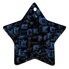 Metalart 23 Blue Ornament (star)  by MoreColorsinLife