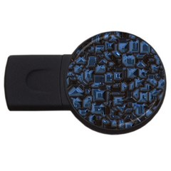 Metalart 23 Blue Usb Flash Drive Round (4 Gb)  by MoreColorsinLife