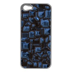 Metalart 23 Blue Apple Iphone 5 Case (silver) by MoreColorsinLife