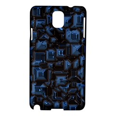 Metalart 23 Blue Samsung Galaxy Note 3 N9005 Hardshell Case by MoreColorsinLife