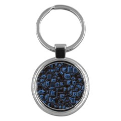 Metalart 23 Blue Key Chains (round)  by MoreColorsinLife