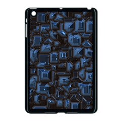 Metalart 23 Blue Apple Ipad Mini Case (black) by MoreColorsinLife