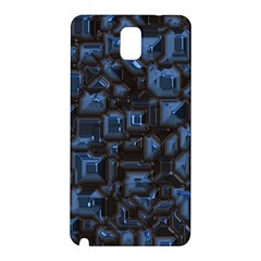 Metalart 23 Blue Samsung Galaxy Note 3 N9005 Hardshell Back Case by MoreColorsinLife