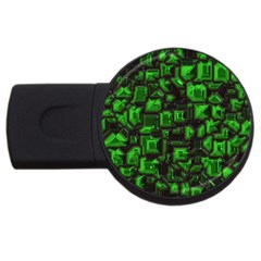 Metalart 23 Green Usb Flash Drive Round (4 Gb)  by MoreColorsinLife