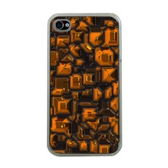 Metalart 23 Orange Apple Iphone 4 Case (clear) by MoreColorsinLife