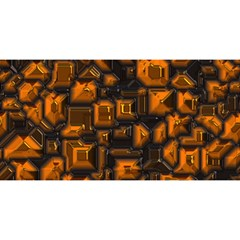 Metalart 23 Orange You Are Invited 3d Greeting Card (8x4)  by MoreColorsinLife