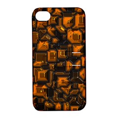 Metalart 23 Orange Apple Iphone 4/4s Hardshell Case With Stand by MoreColorsinLife