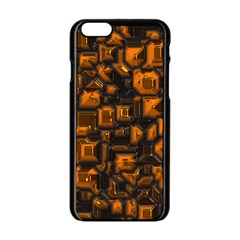 Metalart 23 Orange Apple Iphone 6 Black Enamel Case by MoreColorsinLife