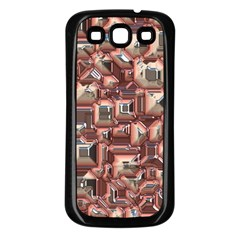 Metalart 23 Peach Samsung Galaxy S3 Back Case (black) by MoreColorsinLife