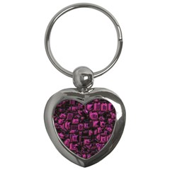 Metalart 23 Pink Key Chains (heart)  by MoreColorsinLife