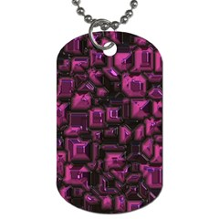 Metalart 23 Pink Dog Tag (two Sides) by MoreColorsinLife