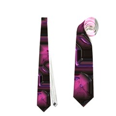 Metalart 23 Pink Neckties (one Side)  by MoreColorsinLife