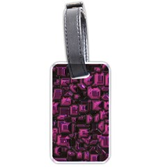 Metalart 23 Pink Luggage Tags (two Sides) by MoreColorsinLife