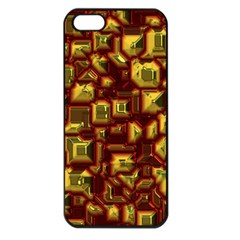Metalart 23 Red Yellow Apple Iphone 5 Seamless Case (black) by MoreColorsinLife