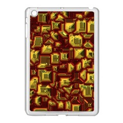 Metalart 23 Red Yellow Apple Ipad Mini Case (white) by MoreColorsinLife
