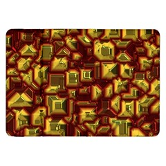 Metalart 23 Red Yellow Samsung Galaxy Tab 8 9  P7300 Flip Case by MoreColorsinLife