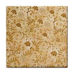 Flower Pattern In Soft  Colors Tile Coasters