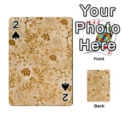Flower Pattern In Soft  Colors Playing Cards 54 Designs