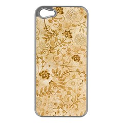 Flower Pattern In Soft  Colors Apple Iphone 5 Case (silver) by FantasyWorld7