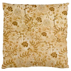 Flower Pattern In Soft  Colors Large Flano Cushion Cases (one Side)  by FantasyWorld7