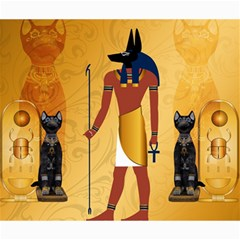Anubis, Ancient Egyptian God Of The Dead Rituals  Canvas 20  X 24